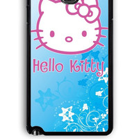 Samsung Galaxy Note 3 Case - Hard (PC) Cover with Hello Kitty Blue Plastic Case Design