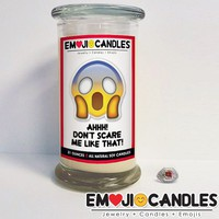Ahh! Don't Scare Me Like That! - Emoji Jewel Candle