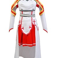 Ya-cos Women's Sword Art Online Asuna Cosplay Costume Outfit Gown Dress