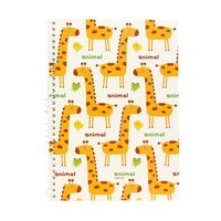 Animal Compact SP Blank Notebook - Giraffe w/ White