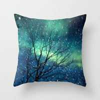 Aurora Borealis Northern Lights Throw Pillow by Bomobob | Society6