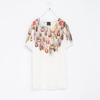 FEATHER PRINTED T - SHIRT - T - shirts - Man | ZARA United States