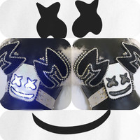 Marshmello Mellogang LED Bra-  rave, rave bra, halloween, costume, edm, festival, plur, edc top, dj, glow in the dark