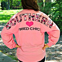 spirit jersey with Southern in the curve