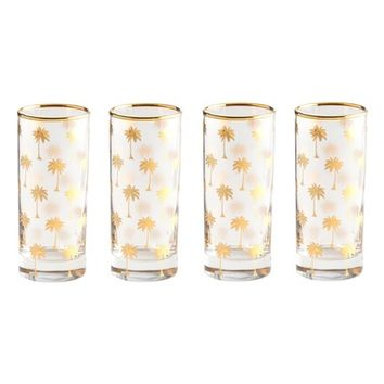 Rosanna Palm Tree Set of 4 Highball Glasses | Nordstrom