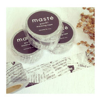 Newspaper by masté mt masking tape washi