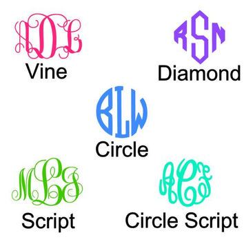 Monogram Car Magnet