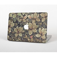 The Vintage Green Pastel Flower pattern Skin for the Apple MacBook Air 13""