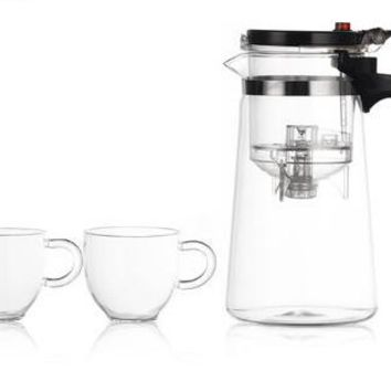 Glass Teapot Tea Cup With Lid Filter Handle Glass Tea Pot Infusers Glass Bottles Mug Heat Proof