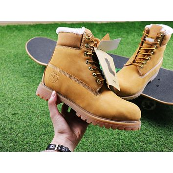 Sale Timberland Wool Waterproof Soft Toe Boots Wheat Color
