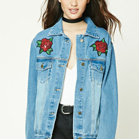 Graphic Patch Denim Jacket