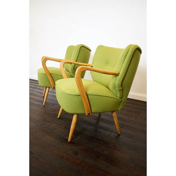 1950's reupholstered cocktail chairs