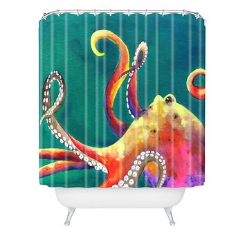Clara Nilles Mardi Gras Octopus Shower Curtain