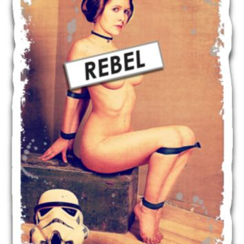 Princess Leia Rebel Sticker Decals
