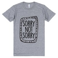 Sorry Not Sorry-Unisex Athletic Grey T-Shirt
