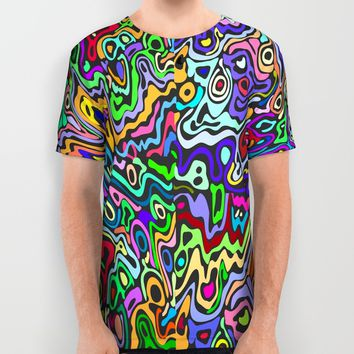 Acid Trip All Over Print Shirt by Elizabeth Andersson