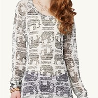 Elephant High Low Tunic Top