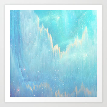 Blue Dreamscape Art Print by printapix
