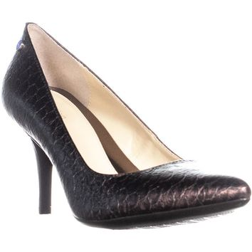 Calvin Klein Ashley Pointed Toe Classic Pumps, Burgundy, 7.5 US
