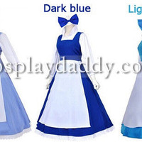 Beauty and The Beast Belle cosplay costume 3 color dress avaliable