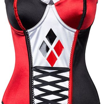 Atomic Harley Quinn Inspired Overbust Corset