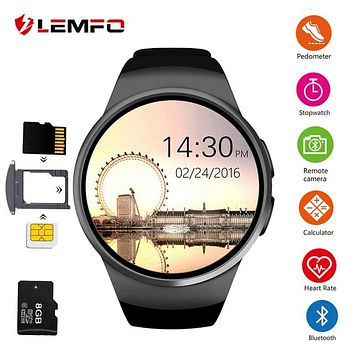 Smart Watch Men SIM Support TF Card Bluetooth Call Heart Rate Pedometer Sport Waterproof Smartwatch For Android IOS