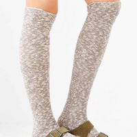 Reverse Terry Knit Knee-High Sock-