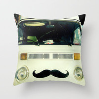 StacheWagen Throw Pillow by RichCaspian | Society6
