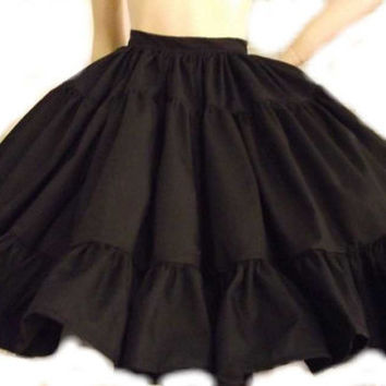 Gothic Lolita Skirt Full Gathered Ruffle Skirt by MGDclothing