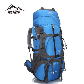 Outdoor Backpack 65L Outdoor Water Resistant Sport Backpack Hiking Bag Camping Travel Pack Mountaineer Climbing Sightseeing Hike