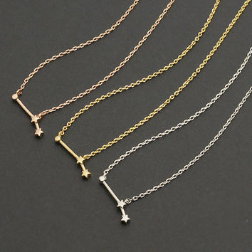 Aries Constellation Necklace / Zodiac Necklace / Star Sign Gold Necklace
