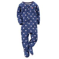Carter's Floral Footed Pajamas - Baby Girl, Size:
