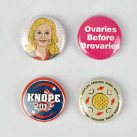 Leslie Knope Button Set! Parks and Recreation, Amy Poehler, Knope 2012, Overies before Broveries
