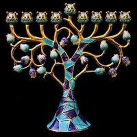 Menorah, Jeweled, 6.5""