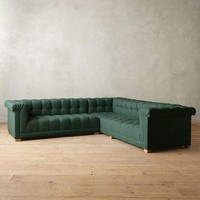 Linen Kettleby Left Sectional by Anthropologie