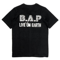 YESASIA: B.A.P Concert 'Live On Earth Seoul' Official Goods - Team T-Shirt (Half-Sleeve) (One Size) MALE STARS,Celebrity Gifts,GROUPS,PHOTO/POSTER,GIFTS - B.A.P, TS Entertainment - Korean Collectibles - Free Shipping - North America Site