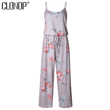 Summer Casual Floral Print Jumpsuit Romper 2017 Sexy Strap Playsuit Elegant Rompers Womens Jumpsuit Casual Overalls Bodysuit