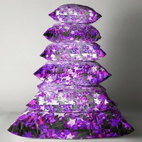 'Mystical magical glitter stars in purple' Throw Pillow by Sarah Davies
