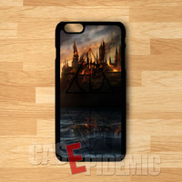 Harry Potter Hogwarts castle in fire -LsT for iPhone 4/4S/5/5S/5C/6/ 6+,samsung S3/S4/S5,samsung note 3/4