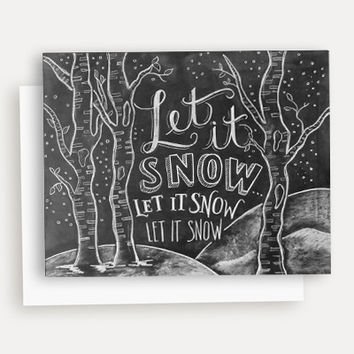 Let It Snow Woodland - A2 Note Card