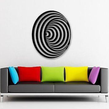 Wall Stickers Vinyl Decal Optical Illusion Modern Home Decor Room Unique Gift (ig950)