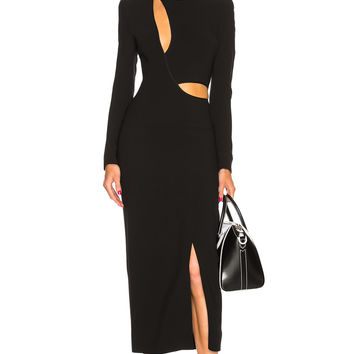 Haider Ackermann Cut Out Dress in Coronus Black | FWRD