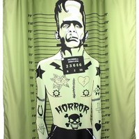 """Tattooed Monster"" Shower Curtain by Too Fast"