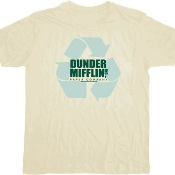 The Office Dunder Mifflin Inc Recyling Paper Company Cream T-shirt