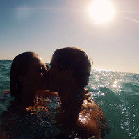 love, couple and beach image on We Heart It