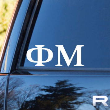 Phi Mu Car Decal | Phi Mu Car Sticker | Phi Mu Sorority | Phi Mu Laptop Decal | Greek Stickers | Greek Car Decal | Greek Laptop Decal | 163