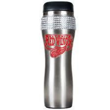 NHL Detroit Red Wings Stainless Steel Bling Travel Tumbler