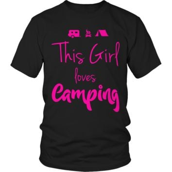 Limited Edition - This Girl Loves Camping PINK DESIGN
