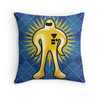 'Gold Starman ' Throw Pillow by likelikes