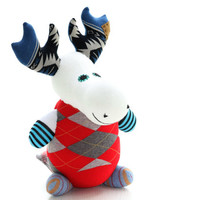 Handmade  Personalized  Moose  for kids  Stuffed Animal  baby  Plush Toy  sock doll  5# Ready to Ship